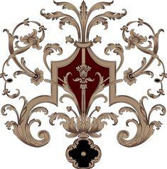 Textile Pattern Design, Baroque Pattern, Arabesque, Baroque Tattoo, Paisley Wallpaper, Art Deco Decor, Wall Ornaments, Islamic Art Calligraphy, Design Seeds