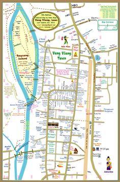 Vang Vieng Town Map