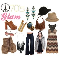 love the colors and the textures - and hats are just cool - 70s glam