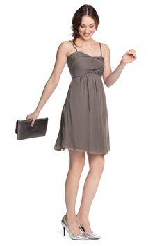Esprit : Vestido estilo imperio en malla + lentejuelas en la Online-Shop