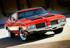 1970 Oldsmobile 442 W30 Ralleye Red