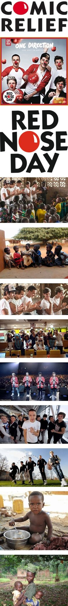 """""""one direction / Red Nose Day"""" ❤ repin if you are proud .... These boys are such good people."""