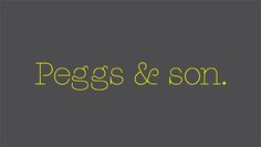 Peggs, by Colophon Foundry