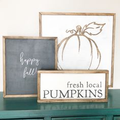 Layering signs for fall! Fresh local pumpkins and hello fall Fall Wood Signs, Fall Signs, Wooden Signs, Fall Decor Signs, Halloween Wood Signs, Fall Craft Fairs, Fall Crafts, Diy Crafts, Fall Home Decor