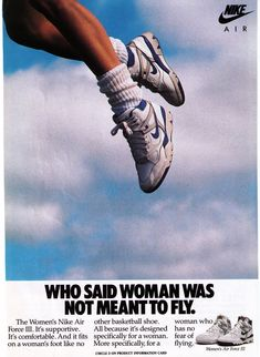 """Nike """"Air Force Women's Basketball Shoe Print Advertisement - The basketball and sportswear culture had a huge influence on footwear during the Branding was also a big trend. Bedroom Wall Collage, Photo Wall Collage, Picture Wall, Room Posters, Poster Wall, Poster Prints, Aesthetic Collage, Retro Aesthetic, Anuncio Nike"""