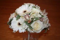 Orchid, Avalanche Rose and Gerbera Bridal Bouquet