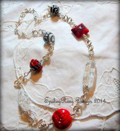 Wirework Necklace in Silver by SpikeyRose by GlendasJewelleryOz, $30.00