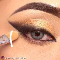 Eyebrow Makeup Tips, Eye Makeup Art, Makeup Videos, Eyeshadow Makeup, Beauty Makeup, Hair Makeup, Natural Summer Makeup, Summer Eye Makeup, Bridal Eye Makeup