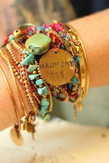 harmony - modern hippie, hippie style, hippie chic bracelets - Sharing My Style Hippie Chic, Estilo Hippie, Hippie Bohemian, Hippie Life, Bohemian Fashion, Boho Gypsy, Modern Hippie Style, Hippie Man, Gypsy Moon