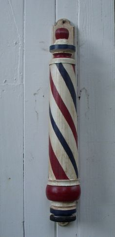 Handcrafted and Hand Painted Barber Pole by Mike's Barber Poles