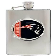 NFL Patriots 6 Oz Stainless Steel Hip Flask by Great American Products. $39.95. Stainless Steel. Officially Licensed New England Patriots Stainless Steel Hip Flask. Unisex Adults. Standard 6oz.. Hand-Crafted Logo. NFL Football hip flask. This New England Patriots stainless steel 6 ounce flask is decorated with a high quality hand-crafted metal Patriots logo. Great gift idea for any sports fan! Go Pats!. Save 11%!