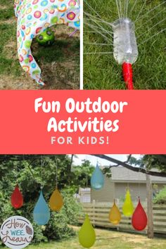 Get the kids outside this summer with these classic childhood games and activities! Perfect for backyard fun at home, for siblings, parents, and the whole family to get in on.