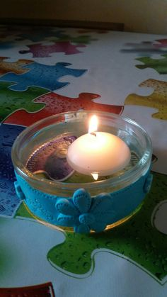 Porta candele galleggianti