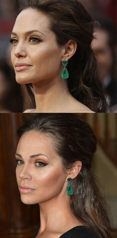 This should go under Makeup... but the beautiful Angelina doesn't have perfect skin! Just a reminder ;)
