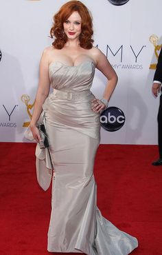 Christina Hendricks, #toniplus #plussize - Plus size curvy red carpet dress celebrity fashion