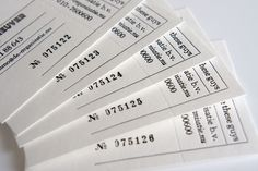 Numbered and perforated business cards
