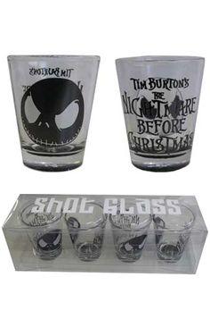 Nightmare Before Christmas - Jack Shot Glasses £9.99 from attitudeclothing.co.uk