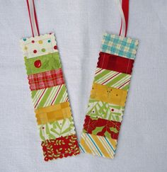 Quilted Bookmarks.