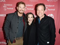 """Winona with the handsome and hunky Kellan Lutz and her """"Experimenter"""" husband Peter Sarsgaard. Can't wait to see this movie. http://winonaforever.tumblr.com/image/111015067441"""