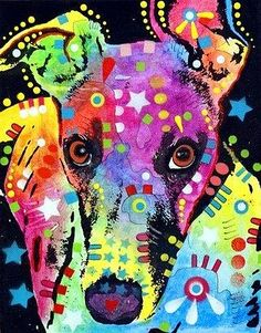 Animals Mixed Media Canvas Prints - Whippet Canvas Print by Dean Russo Canvas Art Prints, Painting Prints, Canvas Wall Art, Fine Art Prints, Dog Paintings, Greyhound Art, Italian Greyhound, Dean Russo, Counted Cross Stitch Kits
