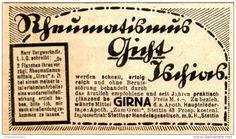 Original-Werbung/Anzeige 1916 - GIRNA GEGEN RHEUMATISMUS / STETTIN - ca. 80 x 50 mm