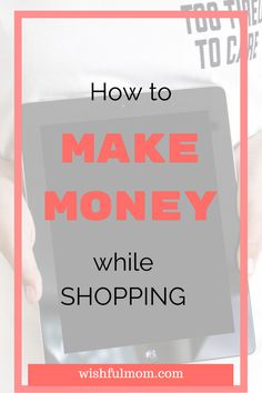 Do you love shopping?Do you want to make money while shopping. Click to find out...