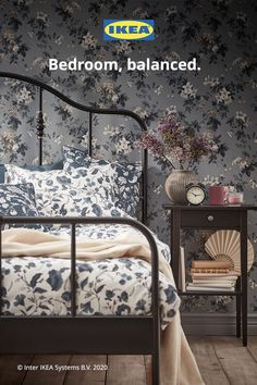 A well-balanced life comes from feeling at ease. Relax and recharge in an affordable IKEA bedroom. Room Ideas Bedroom, Ikea Bedroom, Small Room Bedroom, Home Bedroom, Bedroom Furniture, My Room, Bedroom Decor, College Room Decor, Comfy Bed