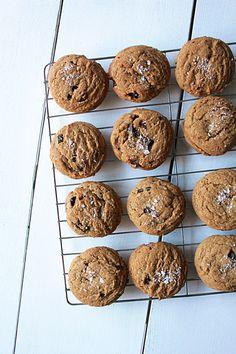 espresso salted chocOlate chunk cookies