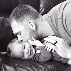Love this pic {Brady with lil Viv}