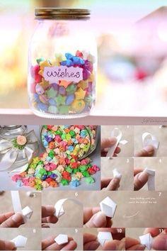 DIY wishes jar with stars!❤️