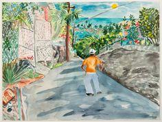 Red GroomsPOR Untitled, 1983 Watercolor on paper 22 1/2 x 27 in. (57.15 x 68.58 cm) - Bridgette Mayer Gallery