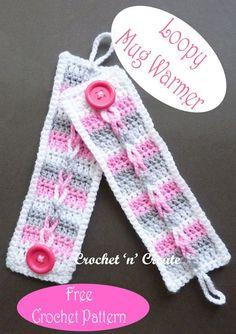 Crochet this mug warmer in an evening from my free crochet pattern on crochetncreate. Crochet Ideas, Crochet Projects, Free Crochet, Knit Crochet, Crochet Hair Accessories, Crochet Hair Styles, Crochet Stitches Patterns, Stitch Patterns, Crochet Cup Cozy