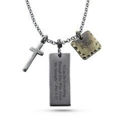 Personalized Cross Pendant With Free Keepsake Box, Add Your Message