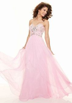 Sweetheart Sheath/ Column Empire Floor Length Chiffon Backless Prom Dresses - 1300104466B - US$126.99 - BellasDress