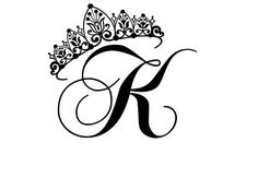 Custom Princess Crown w/ Initial Letter Wall Decal - Children's Vinyl, Girls Room or Nursery Princess Decor, Personalized, Wall Letter Decals, Kids Wall Decals, Letter K Tattoo, Princess Crown Tattoos, Letter K Design, Stylish Alphabets, Tattoo Lettering Fonts, Tattoo Designs Wrist, Alphabet Wallpaper
