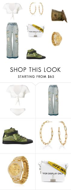 """Sem título #291"" by thalitacarol ❤ liked on Polyvore featuring Danielle Guizio, Dolce&Gabbana, Walters Faith, Rolex and Off-White"