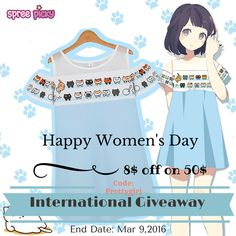 Hi sweeties, Women's Day is coming soon; wish you all have a good time! Happy shopping use discount code #prettygirl for 8$ off on 50$, code valid till Mar 9, 2016 Come join our new giveaway!  Prize is one #nekoatsume dress, 2 winners pick from rafflecopter. How to win: 1.Follow @spreepicky on Pinterest 1.Like and comment and @3 friends 2.Repin this post 3.Finish above and enter here: http://goo.gl/U5CV9T