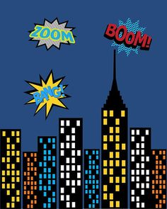 Super Hero Captain America Cityscape Wall Art by PixiePaperSTL