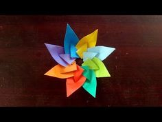 Star Flower Made of Paper | Origami Crafts for the New Year and Christmas Room Decoration - YouTube