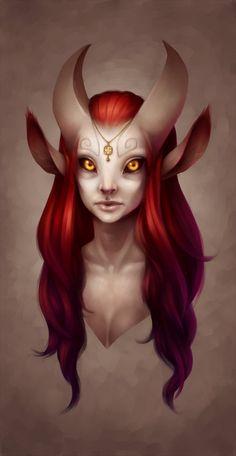 Satyr /bright red hair