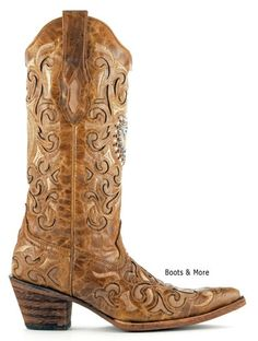 Womens Sand Maipo Crystal Heart Corral Boots [C1151] - $299.99 : Boots & More: Top Notch Boots at Rock Bottom Prices, We Price Match