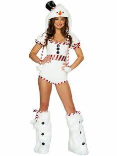 f7e06d0ee33 Short Sleeves Hooded Stripe Printing Cute Snowman Costume for Women.  Christmas Fancy DressWhite ...
