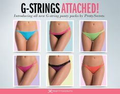 Introducing PrettySecrets collection of G-string panties.