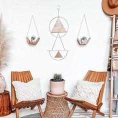 LUNA   Gold + Wood Wall Hanging