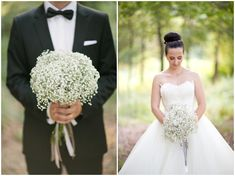Dreamy and romantic baby's breath bouquet...and all round dreamy wedding! by @Brancoprata
