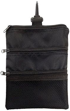 d594ec1f3e4c JP Lann Golf MultiPocket Tote Hand Bag and Valuables Pouch Black 775 x  625Inch   More