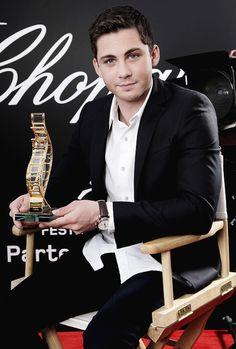 Logan Lerman, 2014 Winner of the Trophée Chopard at The 67th Annual Cannes Film Festival.