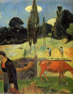 Gauguin, Emile Bernard, and van Gogh had much in common. They had all rejected Impressionism and Neo-Impressionism. They all tried Pointillism or Divisionism but moved on. Gauguin, in time, did less and less open-air painting, whereas Vincent needed direct contact with nature (and his bridges).