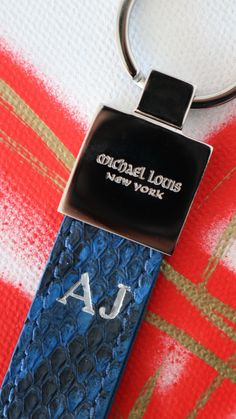 Classic Key Holder in Blue Python, Personalized 'AJ'  Explore the Key Holder collection --> https://michaellouis.com/collections/key-holders  Classic Key Holder | #MichaelLouis - www.MichaelLouis.com