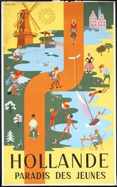 Hollande - Paradis des Jeunes, 1955 ca
